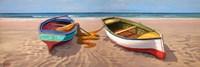 Barche sulla Battigia II Fine Art Print