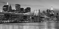 Brooklyn Bridge at Night Fine Art Print