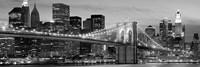 Brooklyn Bridge at Night (Detail) Fine Art Print