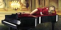 Piano Lady Fine Art Print