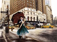 Kiss in Park Avenue Fine Art Print