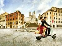 Lovers in Rome Fine Art Print