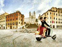Lovers in Rome Fine Art Print