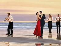 Romance on the Beach (Detail) Fine Art Print