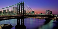 Manhattan Bridge and Skyline (detail) Fine Art Print