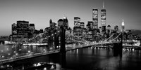 Brooklyn Bridge, NYC BW Pano Fine Art Print