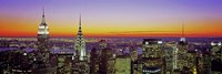 Midtown Manhattan at Sunset, NYC Fine Art Print