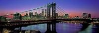 Manhattan Bridge and Skyline Fine Art Print