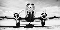 Passenger Airplane on Runway Fine Art Print