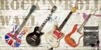 Rock and Roll Wall Fine Art Print