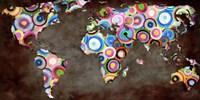 World in Circles Fine Art Print