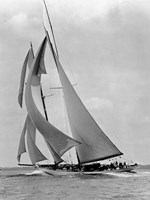 The Schooner Half Moon at Sail, 1910s Fine Art Print