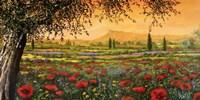 Pianura in Fiore I Fine Art Print