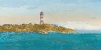 Lighthouse Seascape I Framed Print