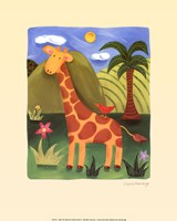Gerry the Giraffe Framed Print