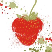 Modern Strawberry Fine Art Print