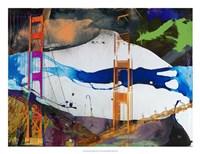 San Francisco Bridge Abstract I Framed Print