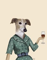 Greyhound Wine Snob Fine Art Print