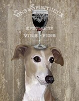Dog Au Vin Greyhound Fine Art Print