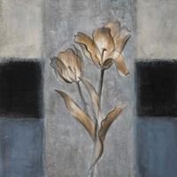Tulips in Blue II Framed Print