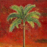 La Palma on Red II Fine Art Print