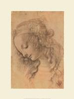 Testa di Donna di Profilo Fine Art Print