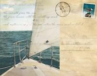 Voyage Postcard I Fine Art Print