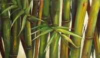 Bamboo on Beige II Framed Print