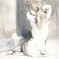 Sketched Waking Woman I Fine Art Print