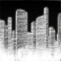 Black and White City II Fine Art Print