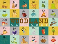 Woodland Alphabet (horizontal) Fine Art Print