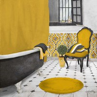 Sundance Bath I (yellow) Fine Art Print