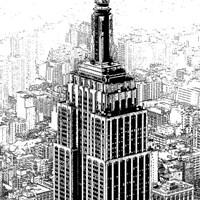 Empire State Sketch Fine Art Print