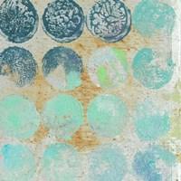 Aqua Circles II Framed Print