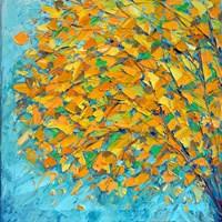 Autumn On Teal Fine Art Print