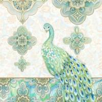 Emerald Peacock II Fine Art Print