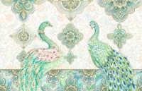 Emerald Peacock Rectangle Fine Art Print