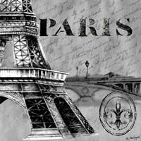 Parisian Wall Black III Fine Art Print