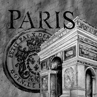 Parisian Wall Black IV Fine Art Print