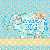 Blue Elephant I - Dream Big Fine Art Print