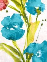 Blue and Pink le Povat I Framed Print