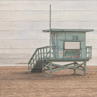 Life Guard White Wash Fine Art Print