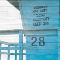 Life Guard Beach Shack Fine Art Print