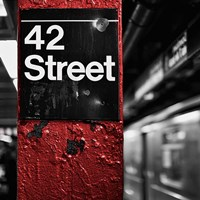 42nd St. Square Fine Art Print