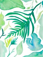 Green Water Leaves I Fine Art Print