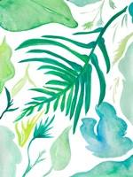 Green Water Leaves I Framed Print