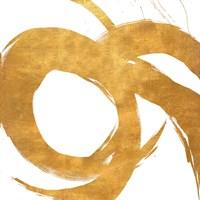 Gold Circular Strokes II Fine Art Print