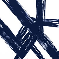 Strokes in Navy I Fine Art Print