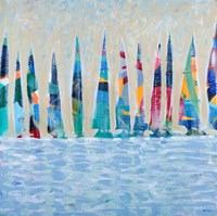 Dozen Colorful Boats Fine Art Print