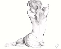 Waking Woman On White II Framed Print